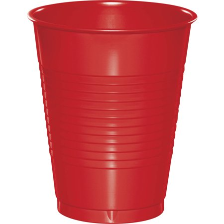 Classic Red 16 oz Plastic Cups, 50-Pack (Red Plastic Cup)