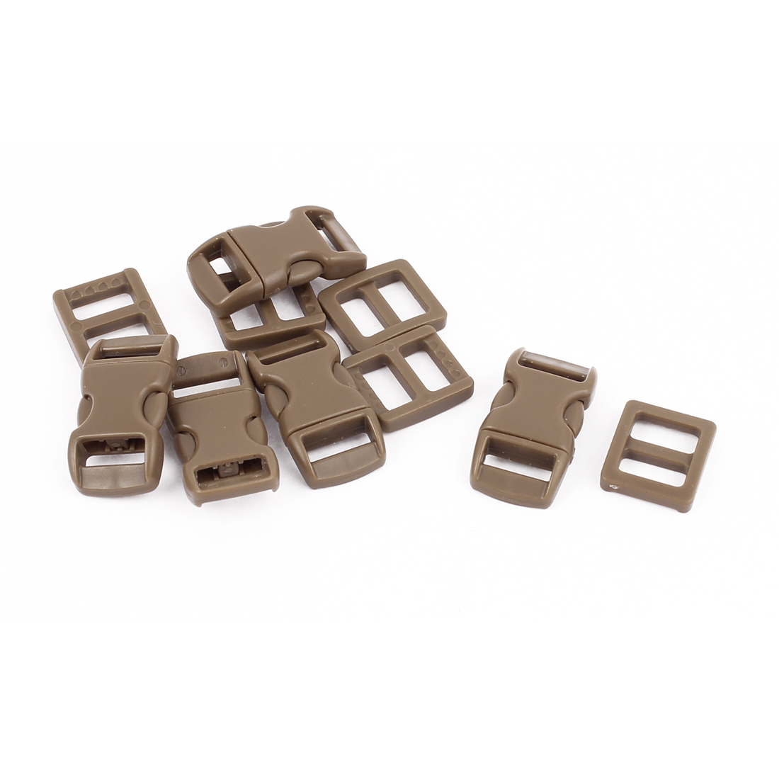 Plastic Packbag Side Quick Release Clasp Buckles 10-11mm Webbing Band 5pc
