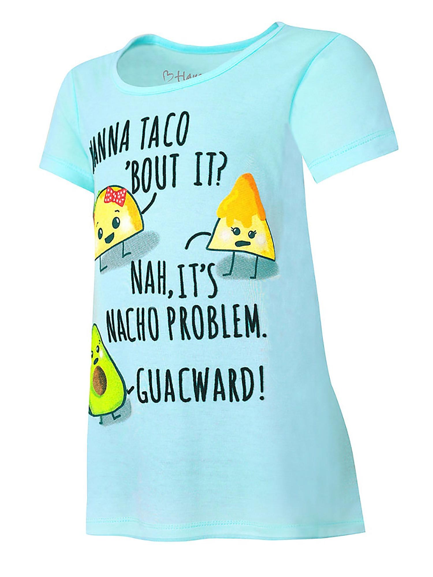 Hanes Girls' Taco Bout It Peplum Tee, Style K295