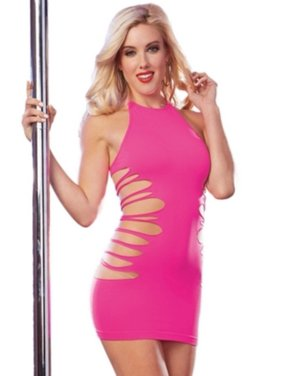 102a407120 Product Image Star Of The Show Dress 10184 Neon Pink. Dreamgirl