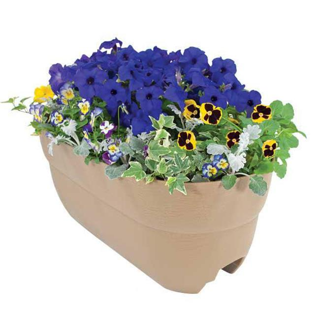 EmscoGroup 2440-1 Bloomers Rail Planter 24 in. Multi Planter - Sand