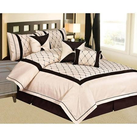 Image of At Home Vanna 7-Piece Comforter Set, Beige