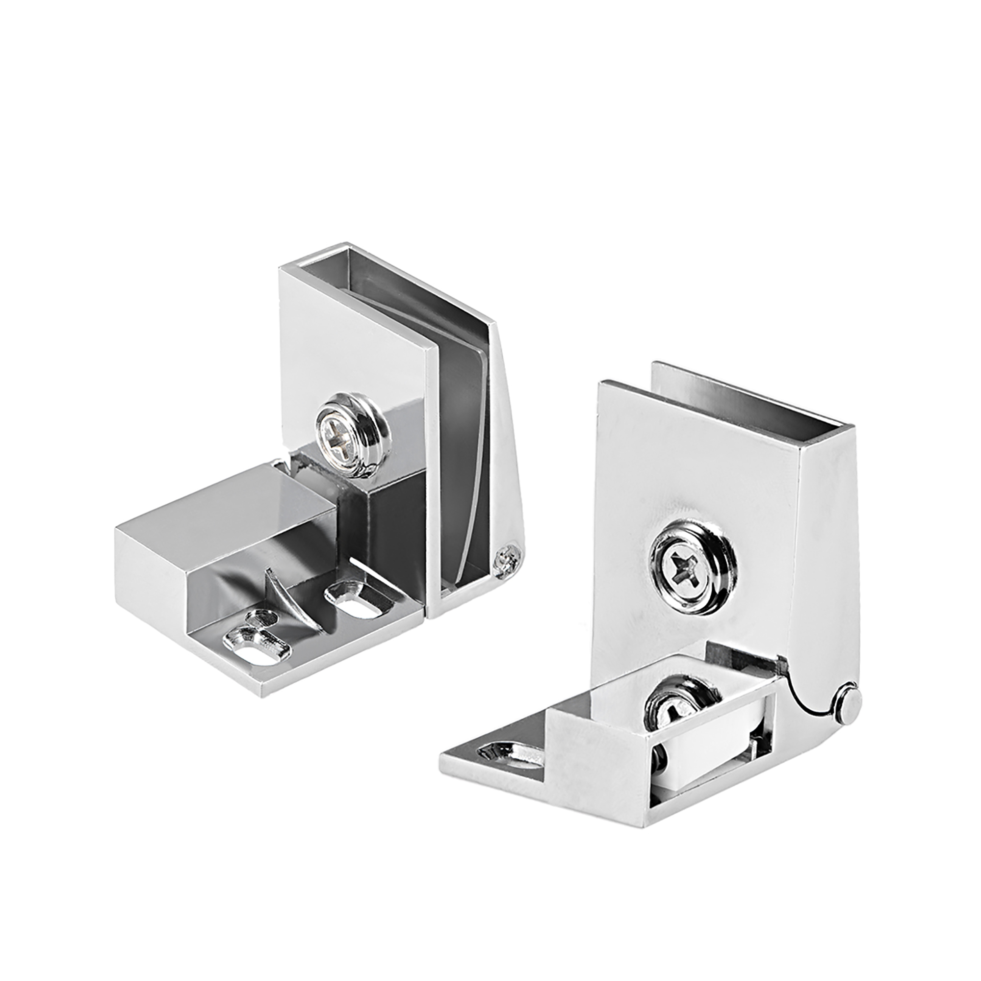 Uxcell 1Pair Glass Door Showcase Cabinet Door Hinge Glass Clamp for3-5mm Thickness - image 4 of 4