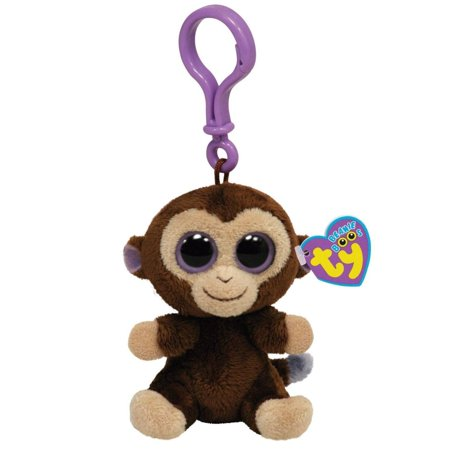 Coconut Monkey Beanie Boo Clip - Jungle & Safari Stuffed Animal by Ty (Seek Safari Monkey)