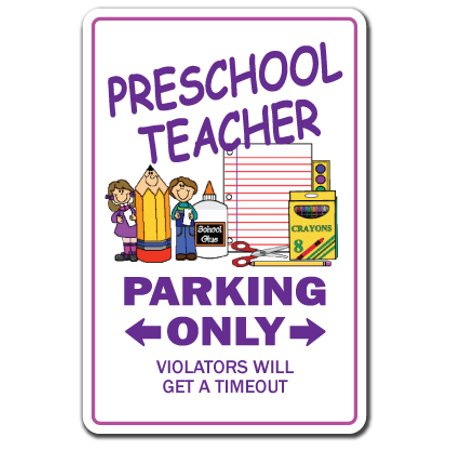 Preschool Teacher Decal | Indoor/Outdoor | Funny Home Décor for Garages, Living Rooms, Bedroom, Offices | SignMission Parking Teach Child Gift Daycare K1 School Childcare Fun Decal Decoration](Fun Halloween Treats For Daycare)