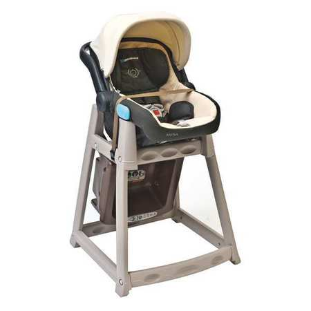 Plastic High Chair, Beige/Brown ,Csl Foodservice And Hospitality, 888-BRN