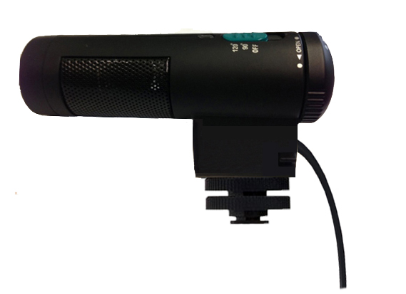 Bower Elite Stereo Microphone With Windscreen Shotgun For Sony HDR-CX580V