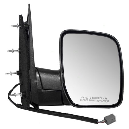 Passengers Power Side View Sail Type Mirror with Single Glass Replacement for Ford Van (Van Power Side View Door)