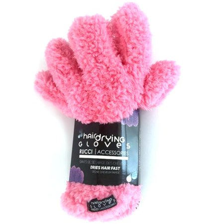 Rucci  Accessories Pink or Purple Micro Weave Fiber Hair Drying Gloves Pink