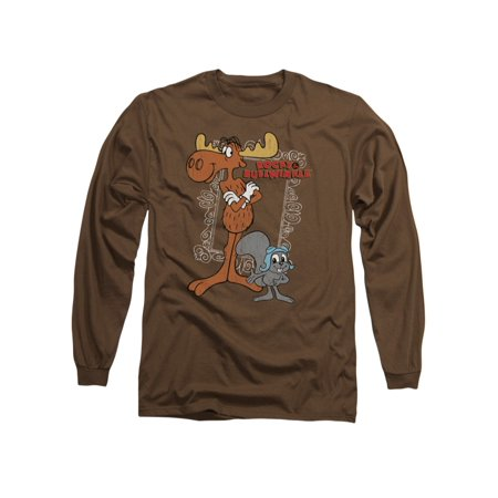 Rocky & Bullwinkle Animated TV Show Best Friends Frame Adult L-Sleeve