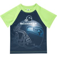 Seattle Seahawks Toddler Helmet Raglan T-Shirt - College Navy