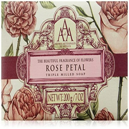 AAA Aromatherapy Floral Rose Petal Triple Milled Soap 200g / (Aaa Rose)