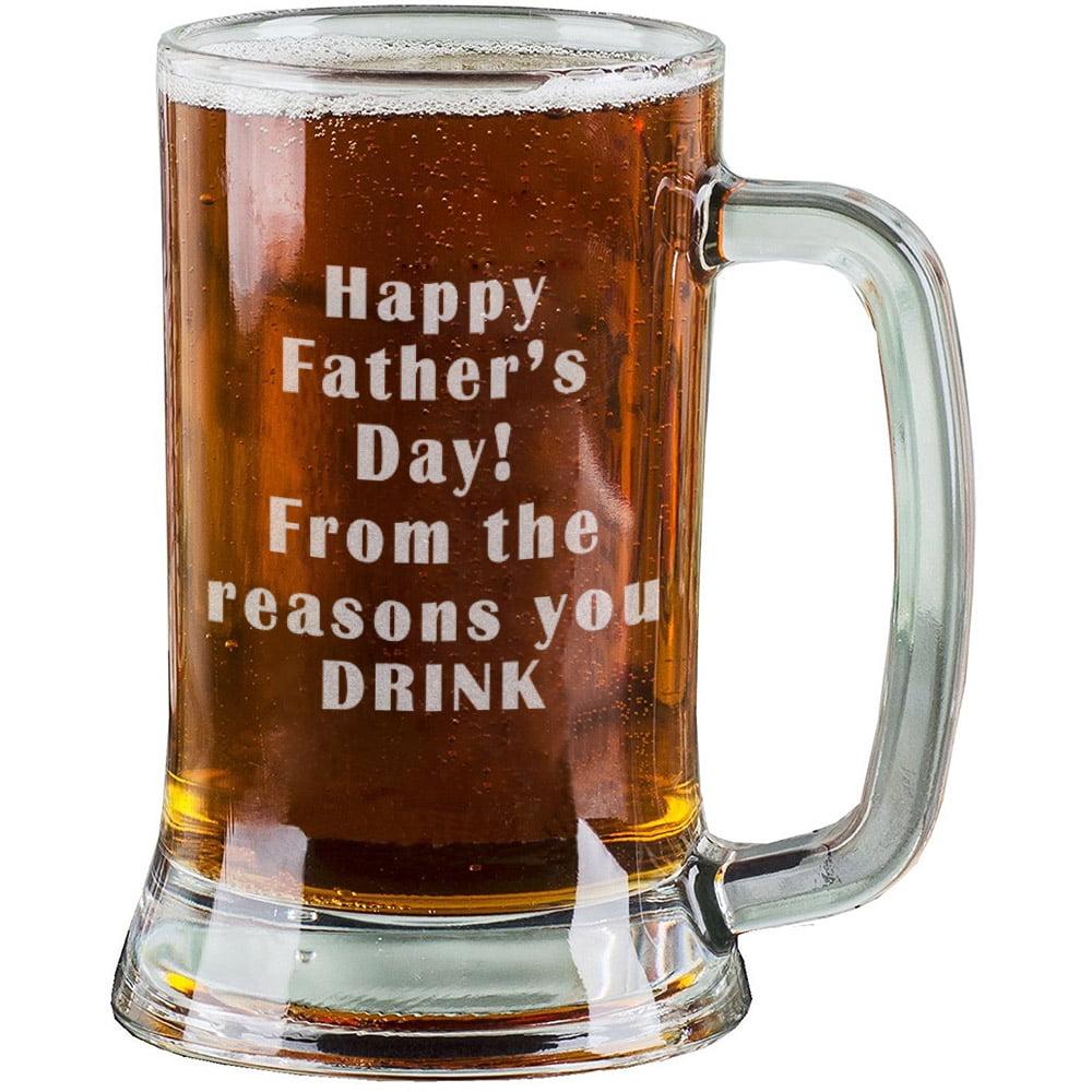 16 Oz Personalised Pint Beer Glasses Etched Mug Engraved ...