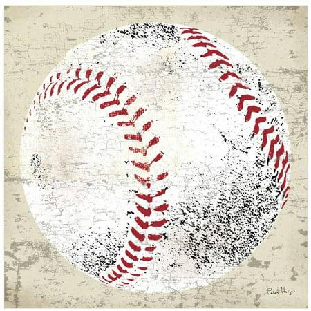 Vintage Baseball by Eazl Fine Art Print