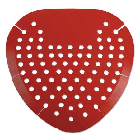 Boardwalk Urinal Screen, Cherry Fragrance, Red, 12/Box (Nus Urinal Screens)