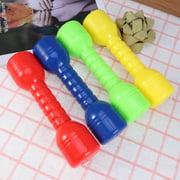 4 Pcs Plastic Dumbbells Ergonomic Children Morning Exercise Barbells Hand Bar for Kindergarten (Random Color)