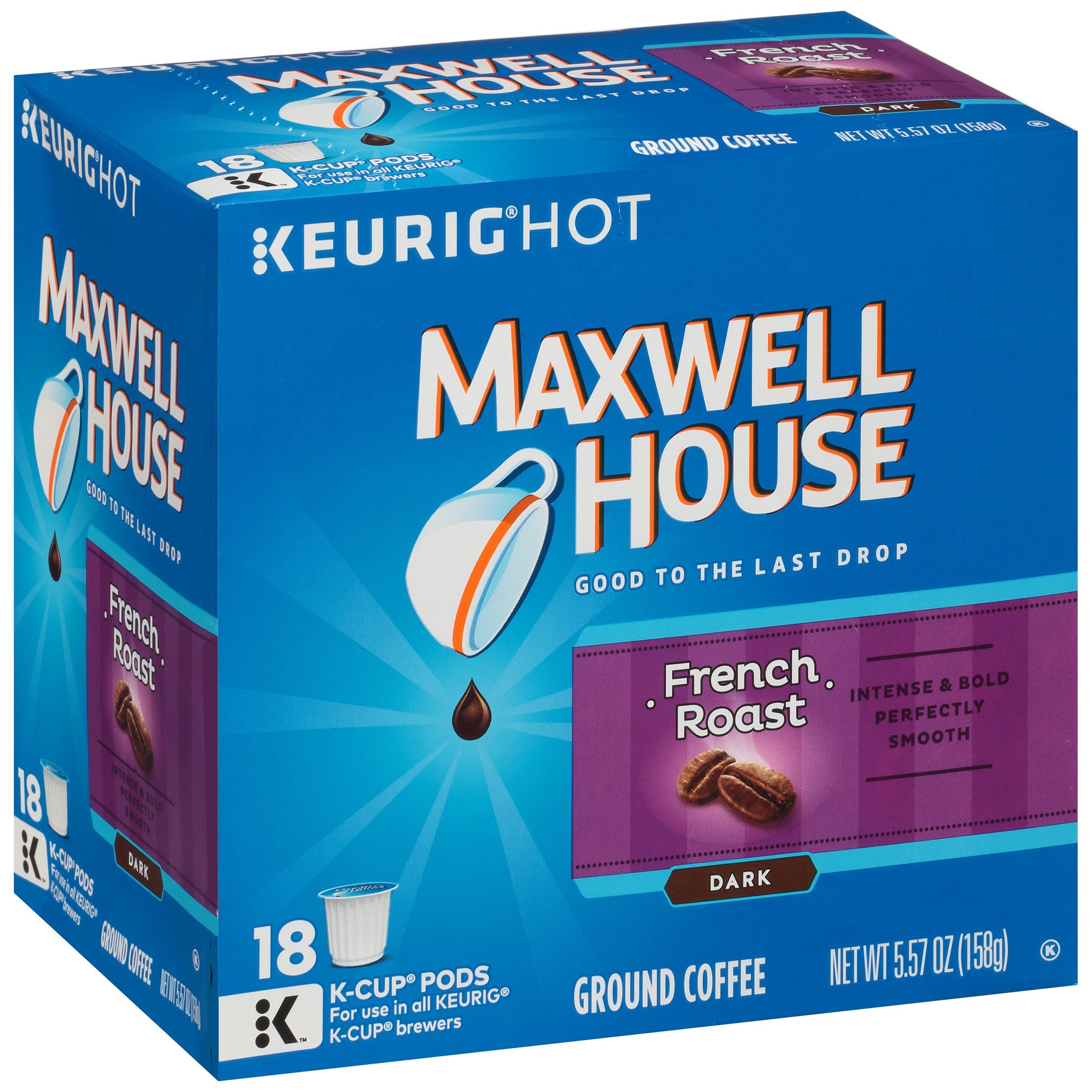 Maxwell House French Roast Coffee K-Cup® Packs 18 ct Box