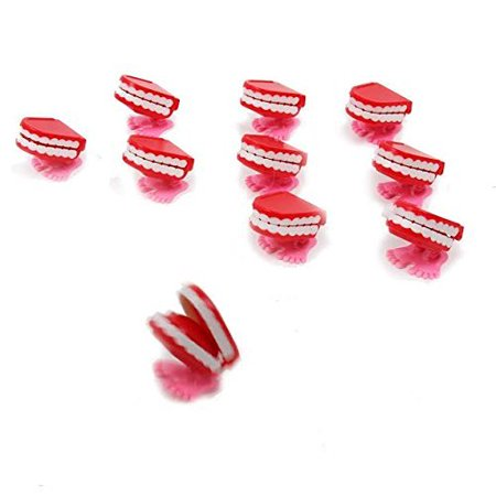 dazzling toys Wind-up Walking Babbling Teeth 12 Pack