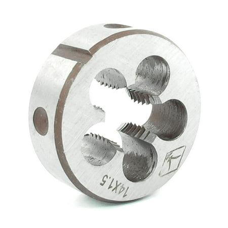 Metric Thread Dies (14mm Thickness 38mm Outside Diameter Metric Screw Thread Round Die Tool)