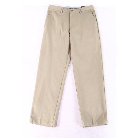 - Greg Norman Men 38x32 Shirt-Grip Waist Dress Flat Front Pants