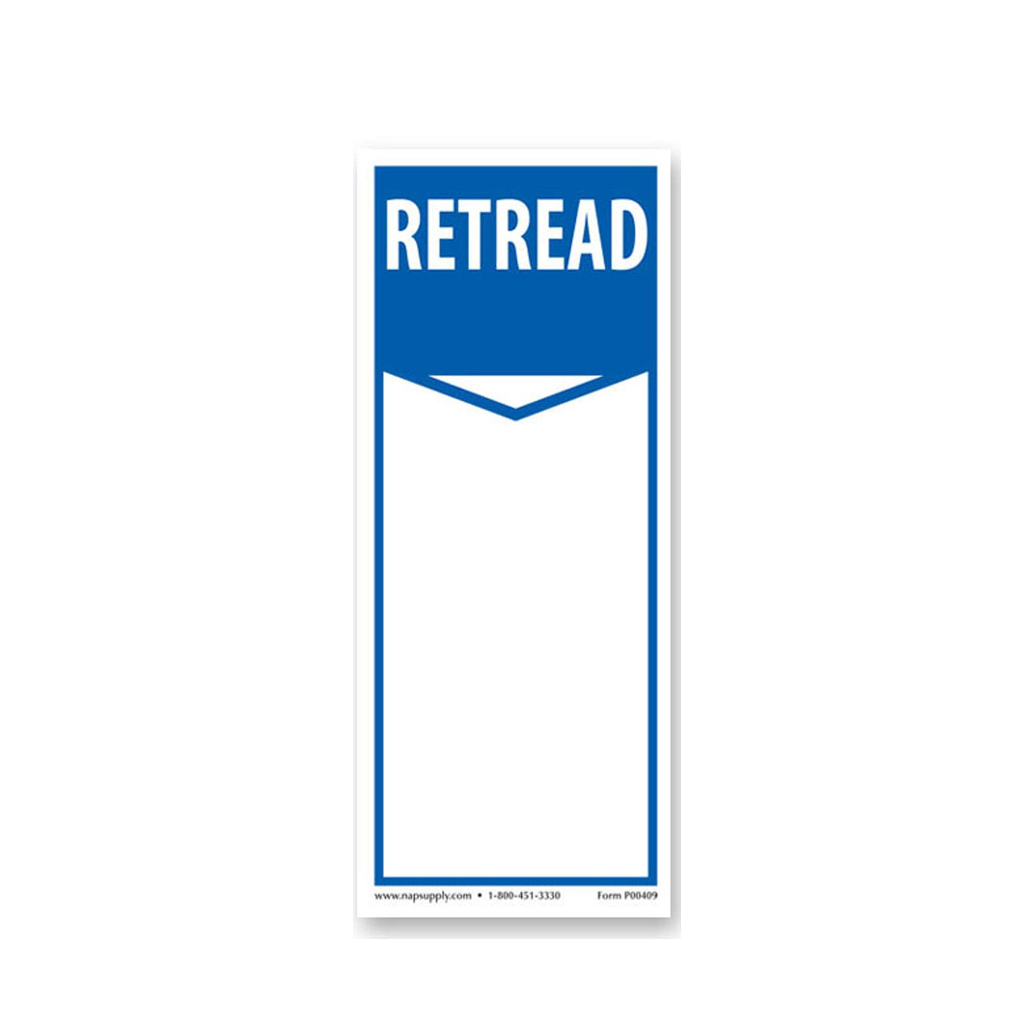 Tire Label - Retread Sticker - Pack of 250