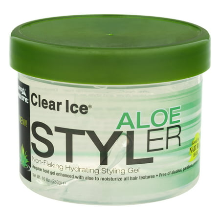 (4 Pack) Clear Ice Aloe Styler Non-Flaking Hydrating Styling Gel, 10.0 OZ (I Styler Ionic Styler)