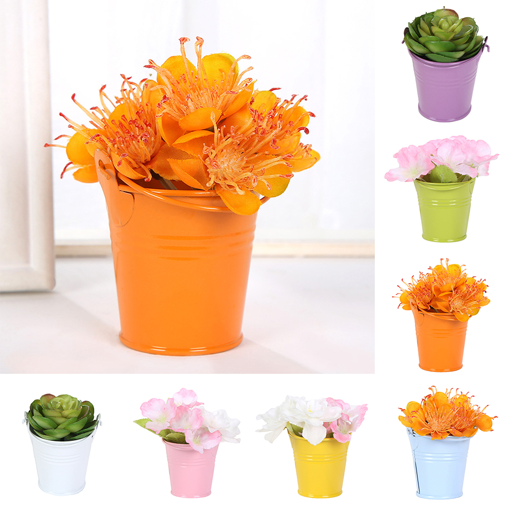 Micelec Cute Mini Solid Color Pail Bucket Wedding Party Candy Favours Home Hotel Decor