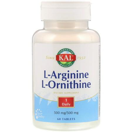 KAL  L-Arginine L-Ornithine  60 Tablets (Best Vitamins To Take)
