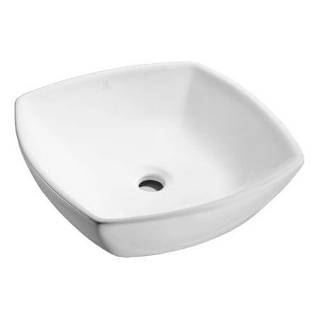 Series Bath Sink - ANZZI Deux Series Vitreous China Square Vessel Bathroom Sink