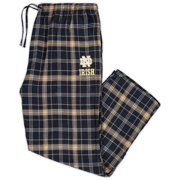 Notre Dame Fighting Irish Concepts Sport Big & Tall Parkway Flannel Pants - Navy/Gold