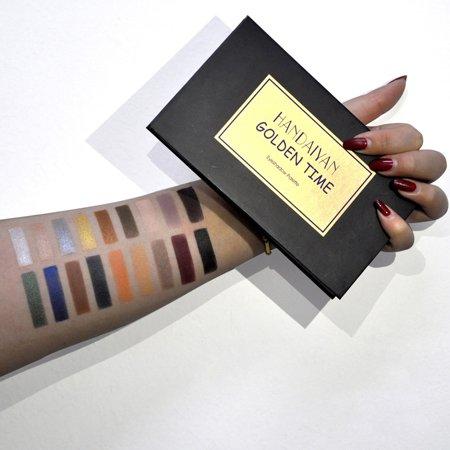 Tuscom HANDAIYAN 18 Colors Eye Shadow Makeup Pearl Metallic Eyeshadow Palette (Pearl Eye Color)