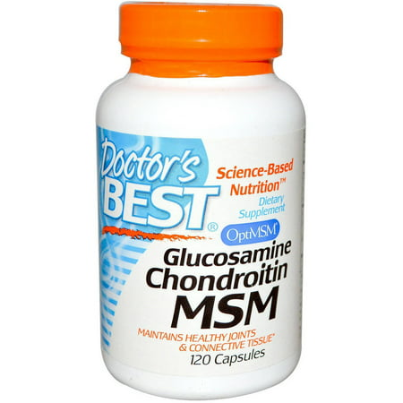Doctor's Best Glucosamine/Chondroitin/MSM, 120 CT (Best Pain Relief For Arthritis In Spine)