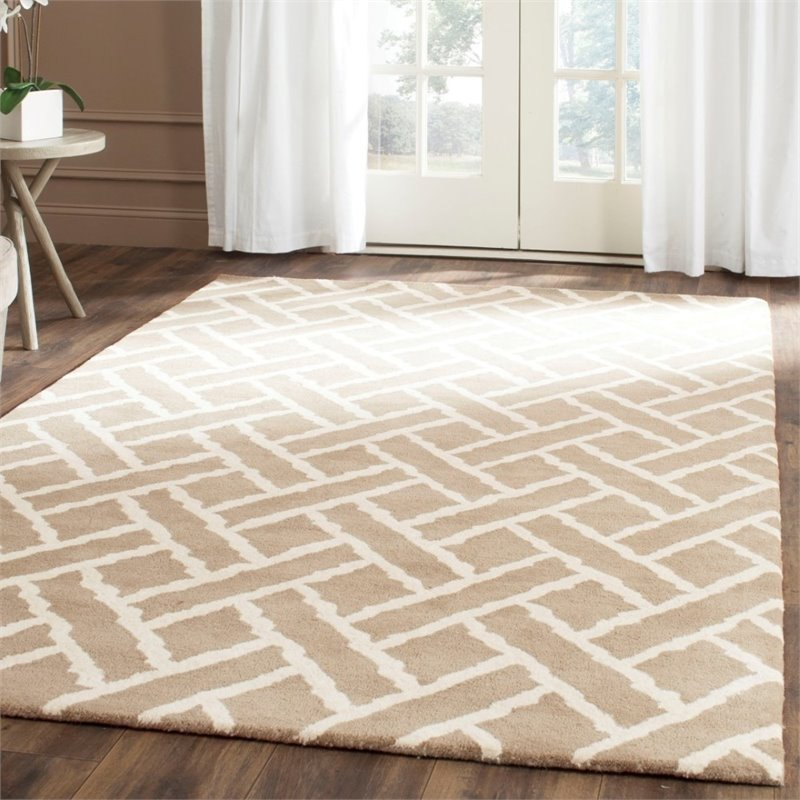 Safavieh Chatham 4' X 6' Hand Tufted Wool Rug in Beige and Ivory - image 2 of 10