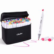 Ohuhu Art Markers Set, 100 Colors Dual Tips Coloring Marker Pens Highlighters for Adult/ Kids