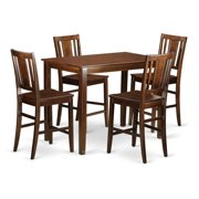 East West Furniture Yarmouth 5 Piece Scotch Art Dining Table Set