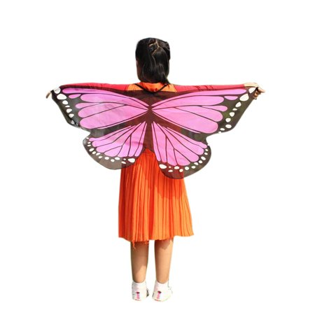 Tuscom Child Kids Boys Girls Bohemian Butterfly Print Shawl Pashmina Costume Accessory - Shaft Costume