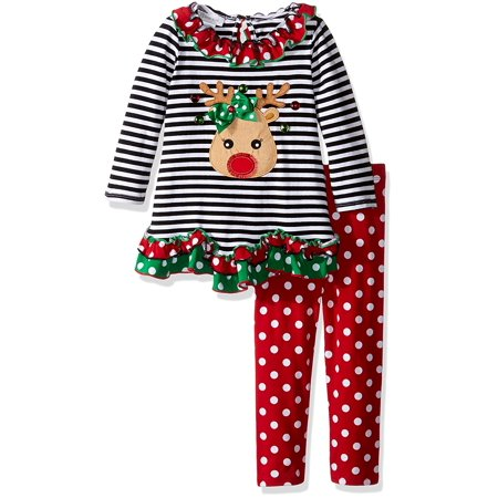 Bonnie Jean Baby Girls Christmas Reindeer Legging Set 12 months