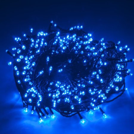 WEANAS Solar Power String Fairy Lights 500 LEDs Blue 166 feet 50.5M Solar Energy for Indoor ...