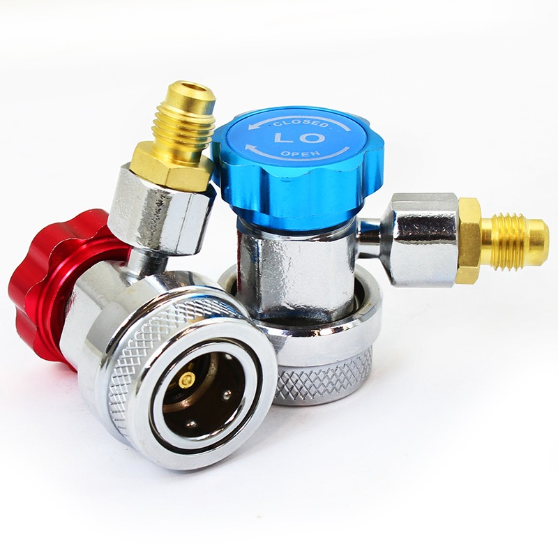 """XtremepowerUS 1/4"""" Auto HVAC R134A Gas Quick Coupler Adapter SAE, 2PC"""