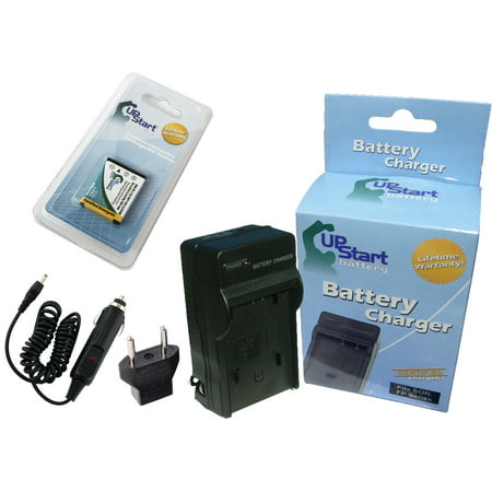 Olympus FE-330 Battery and Charger with Car Plug and EU Adapter - Replacement for Olympus LI-40B, LI-42B Digital Camera Batteries and Chargers (800mAh, 3.7V, Lithium-Ion) - image 3 de 3