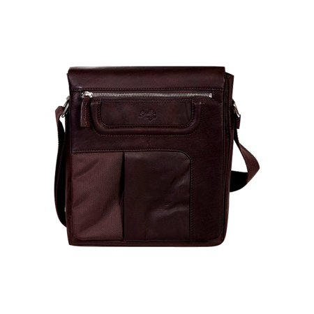 Western Briefcase Leather Nylon Flap Snap Closure 107-33