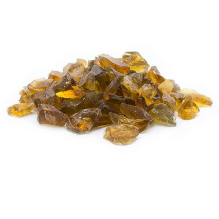 - Dragon Glass 25 lb Chestnut Landscape & Fire Pit Glass, 1/2