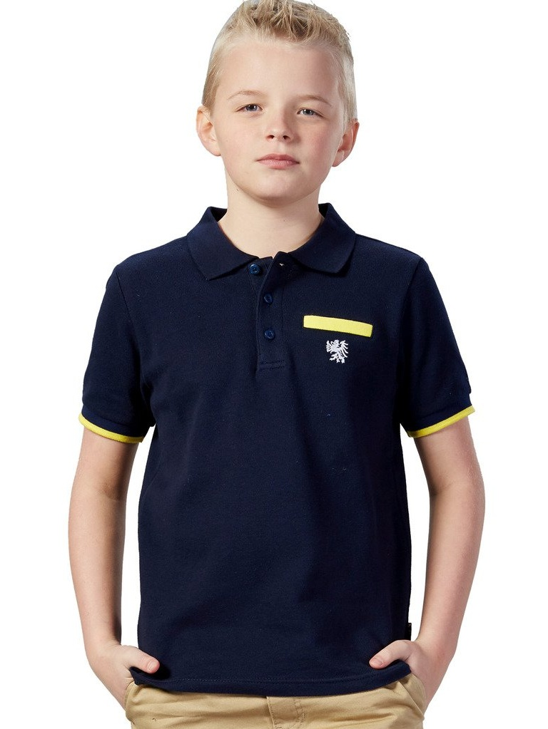 Leo&Lily Big Boys' Casual Sports Cardigan Polo Shirt Contrast color Short Sleeve