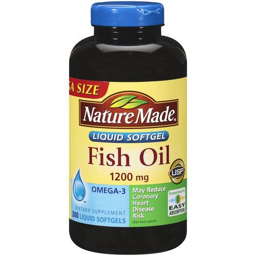 Nature Made Fish Oil Liquid Softgels Mega Size, 300ct