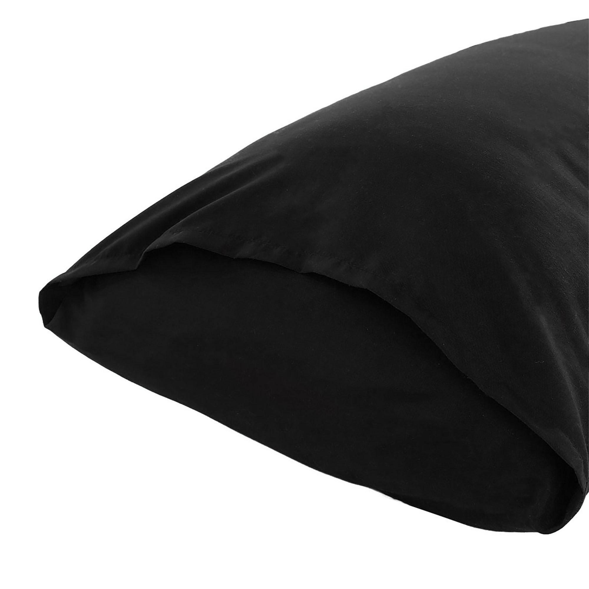 """Body Pillow Case Microfiber Long Bedding Covers for Body Pillows Black 20""""x60"""" - image 4 de 7"""