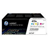 HP 410A (CF251AM) Color LaserJet Pro M452, MFP M477 3-Pack Cyan, Magenta, Yellow Original LaserJet Toner (Hp Color Laserjet Pro Mfp M277dw Toner Price)