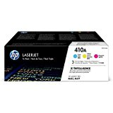 HP 410A (CF251AM) Color LaserJet Pro M452, MFP M477 3-Pack Cyan, Magenta, Yellow Original LaserJet Toner Cartridges