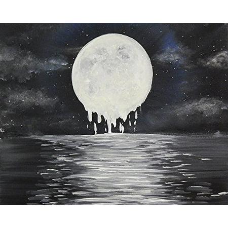 Melty Moon by Ed Capeau 16x12 Art Print Poster   Full Moon Luna Night Scene Stars Sky POD (Ed Wood Halloween Scene)