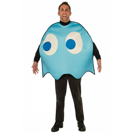 Pac-Man Adult Costume Inky (blue ghost) - - Frank Bee Costume Center