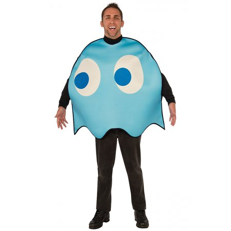 Pac-Man Adult Costume Inky (blue ghost) - Standard (Gentleman Ghost Costume)
